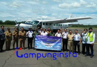Maskapai Susi Air Sukses Melakukan Penerbangan Perdana di Bandara Gatot Soebroto Way Tuba