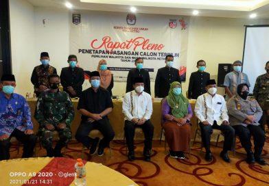 KPU Kota Metro Gelar Rapat Pleno Penetapan Wali Kota dan Wakil Walikota Terpilih Periode Tahun 2020-2025
