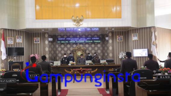 DPRD Way Kanan Gelar Rapat Hasil Penetapan Pilkada Tahun 2020