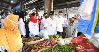 Gubernur Bersama Wali Kota Bandarlampung Tinjau Stok Pangan dan Prokes